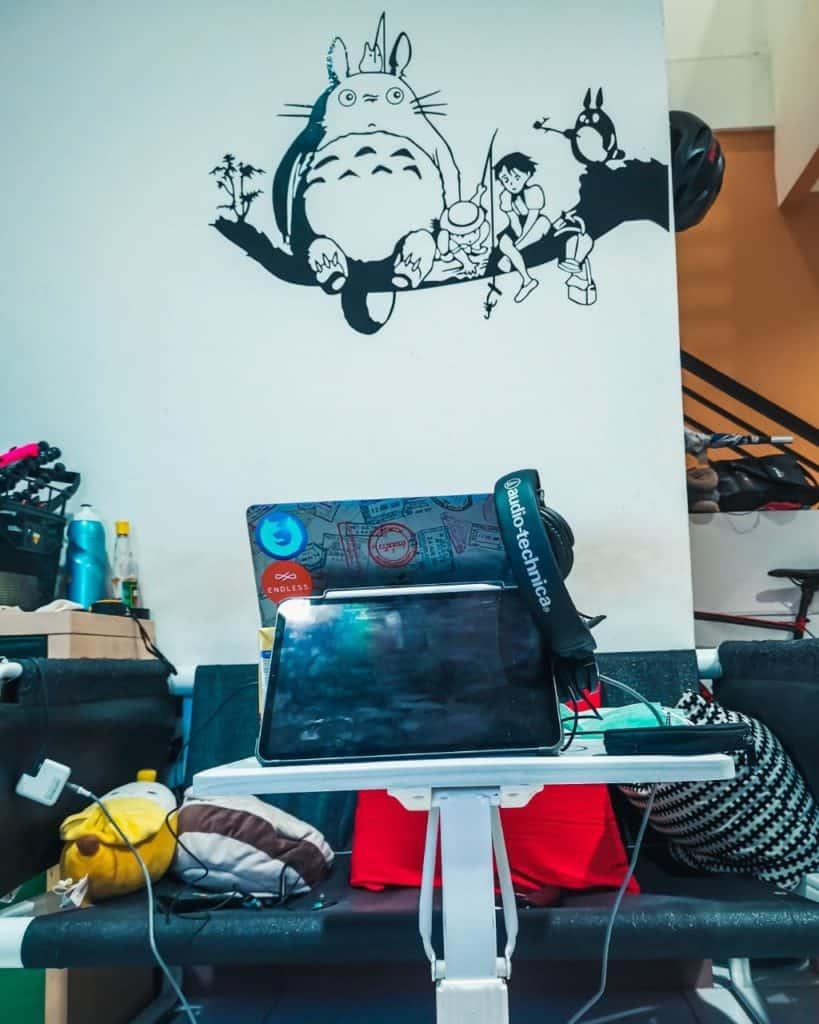 My desk on April 2020
